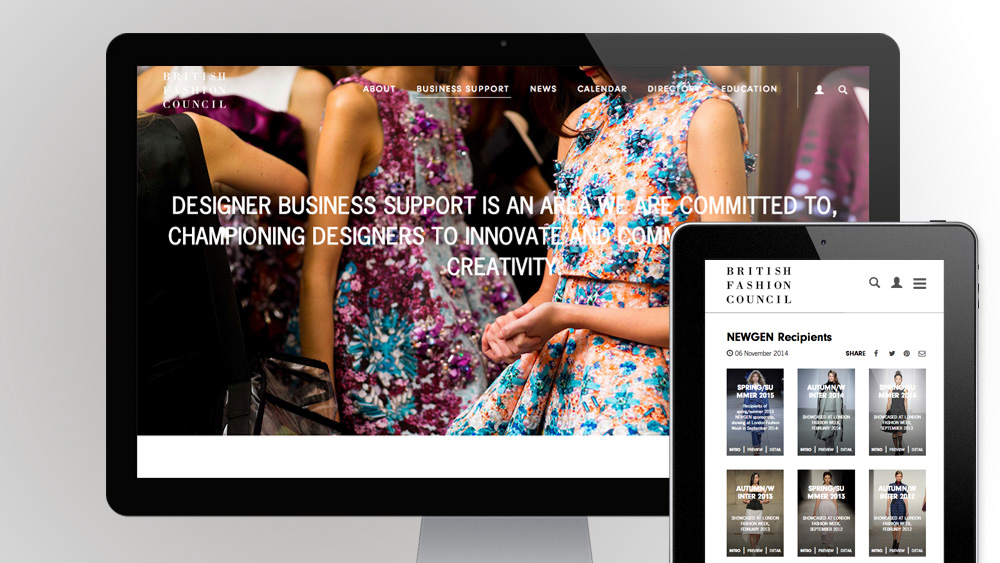 British Fashion Council corporate website