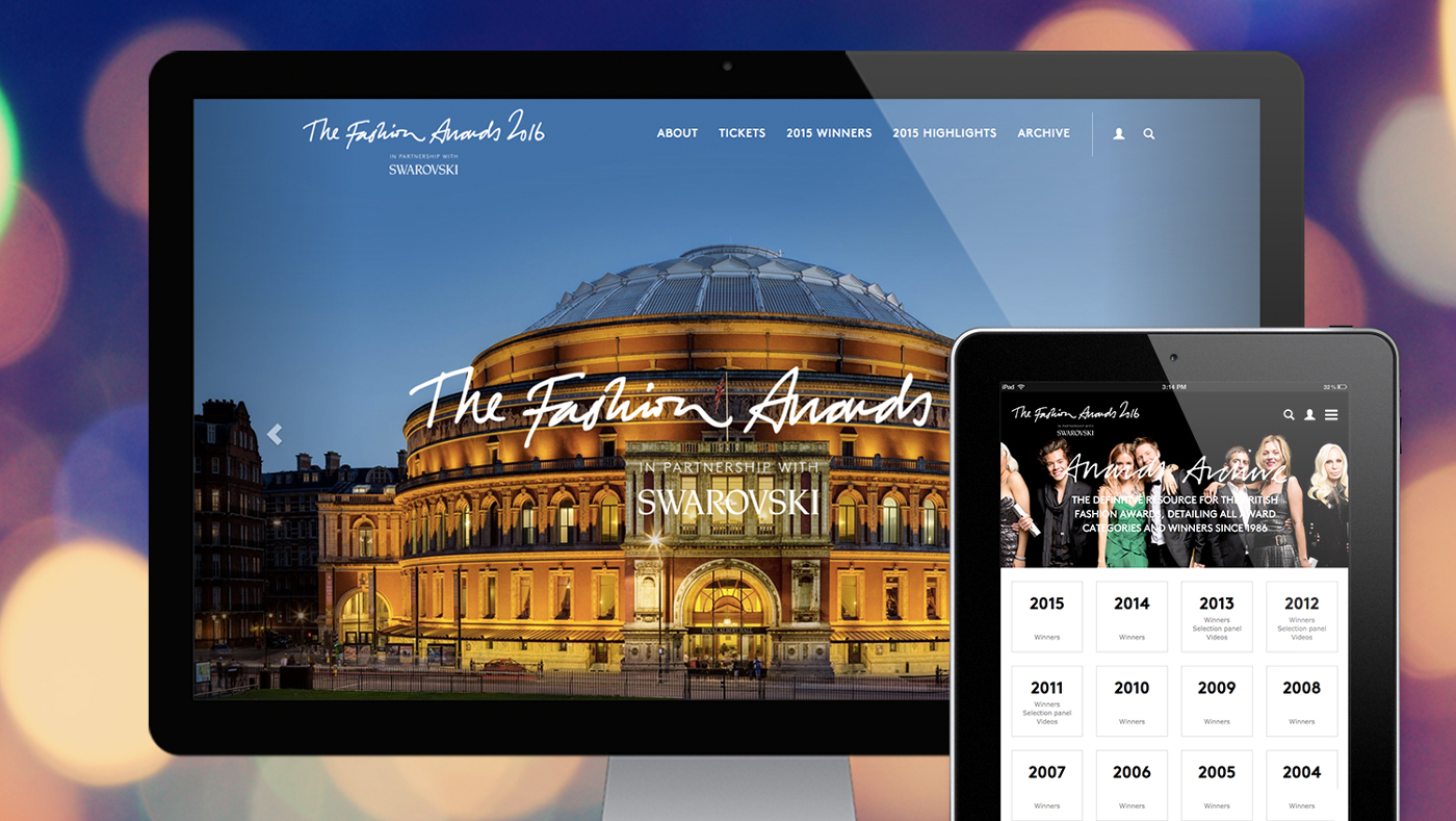 The Fashion Award website