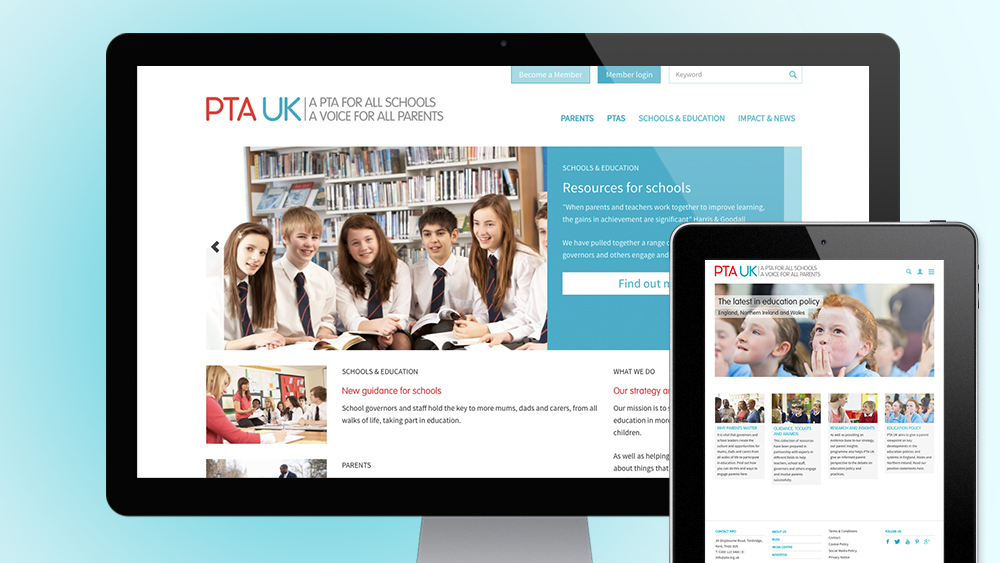 PTAUK website in different devices