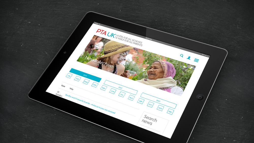 PTAUK website digital agency responsive design