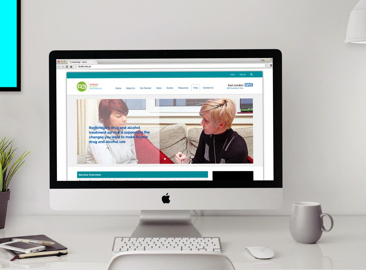 R3 website in desktop version