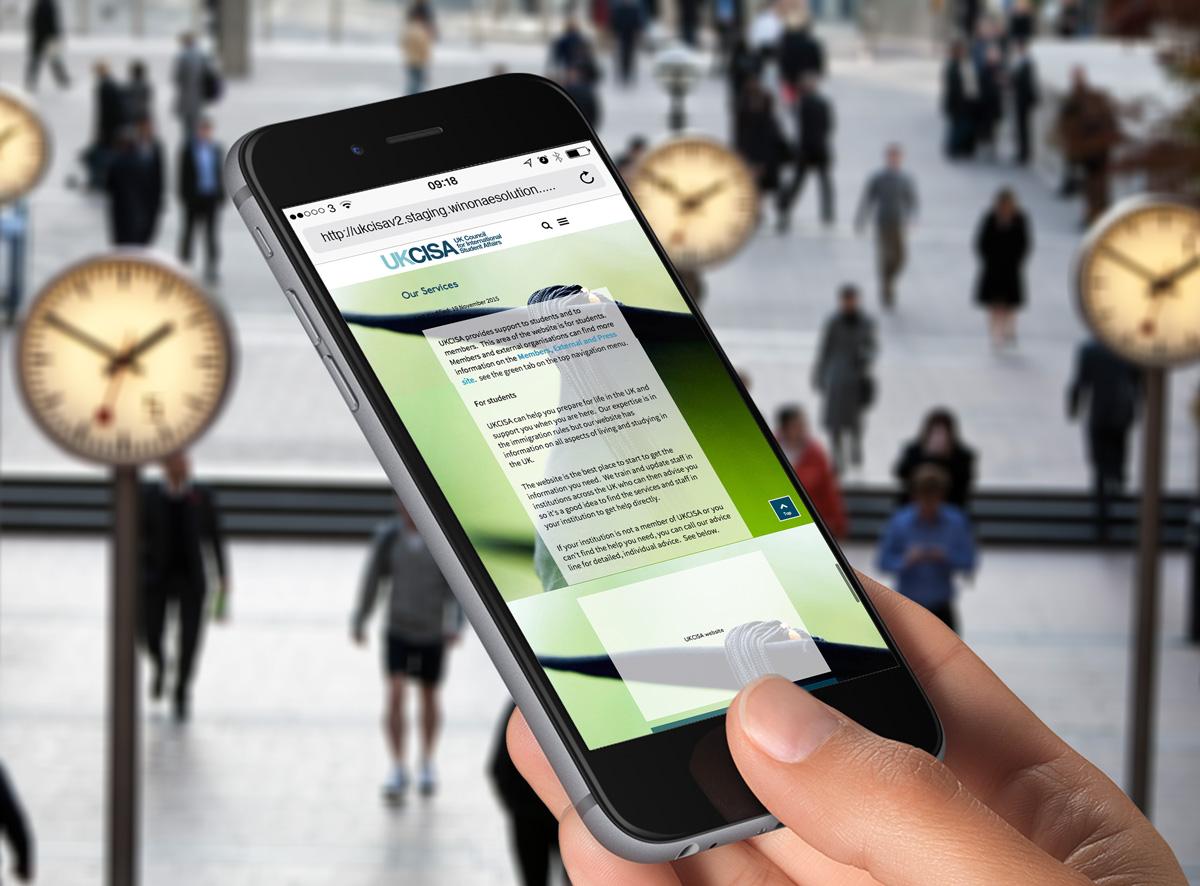 UKCISA website responsive design